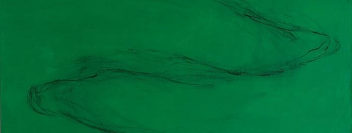 L'un dans l'autre #11, 2011, Huile sur toile, 195x97 cm