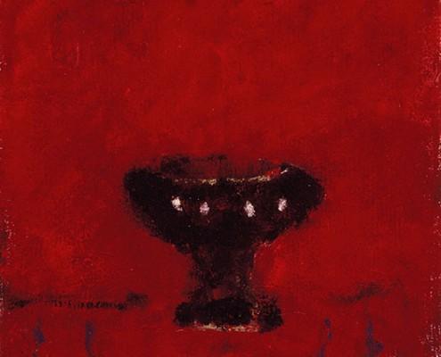 Coupe Rouge, 1991, Huile sur toile, 30 x 30 cm