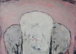 Trois blanche #1, 1995, Huile sur toile, 130 x 97 cm