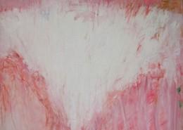 Ascendante rose #2, 2011, Huile sur toile, 130 x 97 cm