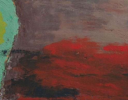 Ils vont se  noyer #1, 2008, Huile sur bois, 23 x 60 cm