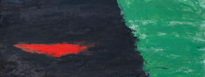 Ils vont se  noyer #2, 2008, huile sur toile, 197x94 cm