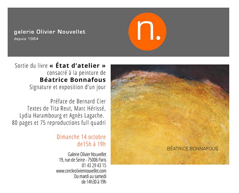 invitation signature exposition chez Olivier Nouvellet dimanche 14 octobre 2018